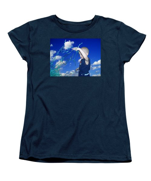 Women's T-Shirt (Standard Cut) featuring the photograph Kaleb Takes Over The World by Verana Stark