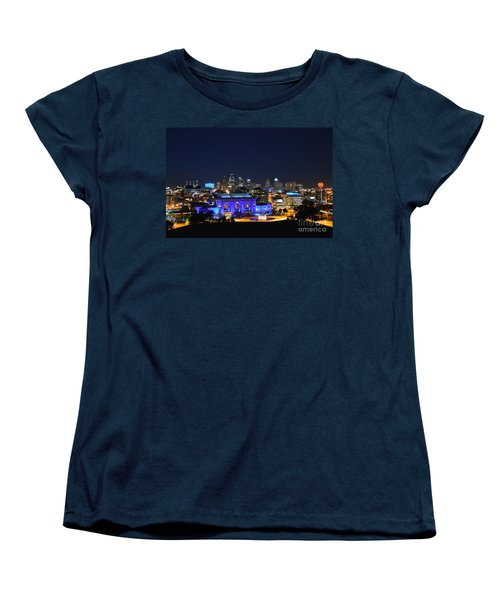 Kansas City Union Station In Blue  Women's T-Shirt (Standard Cut)