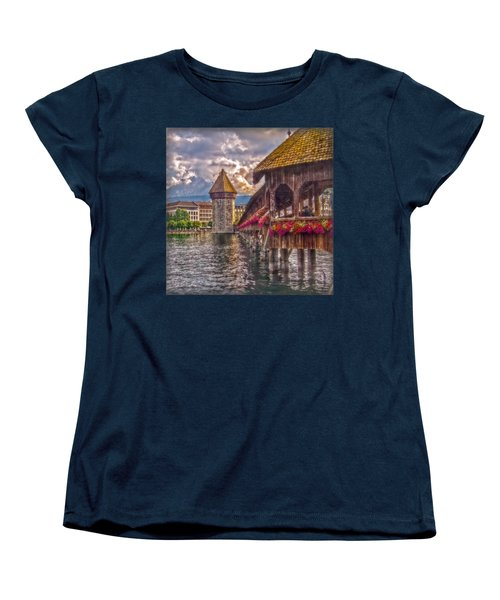 Kapellbruecke Women's T-Shirt (Standard Cut) by Hanny Heim