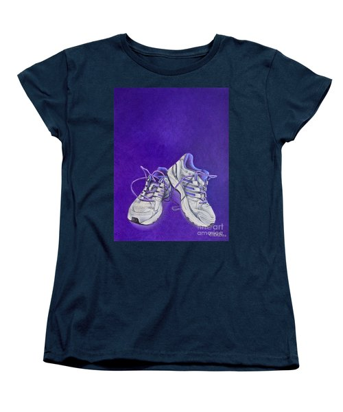 Women's T-Shirt (Standard Cut) featuring the painting Karen's Shoes by Pamela Clements