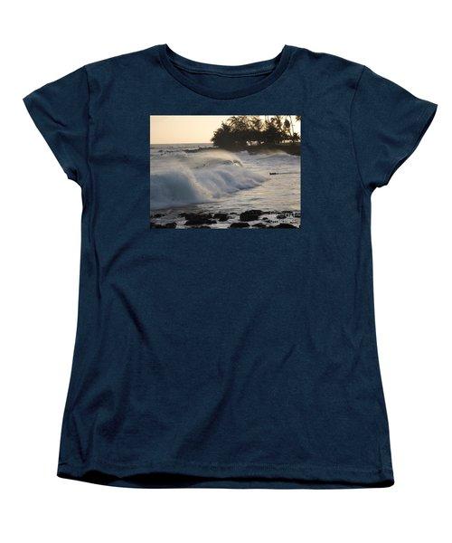 Kauai - Brenecke Beach Surf Women's T-Shirt (Standard Cut) by HEVi FineArt
