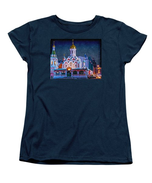 Kazan Cathedral. Red Square. Moscow Russia Women's T-Shirt (Standard Cut) by Juli Scalzi