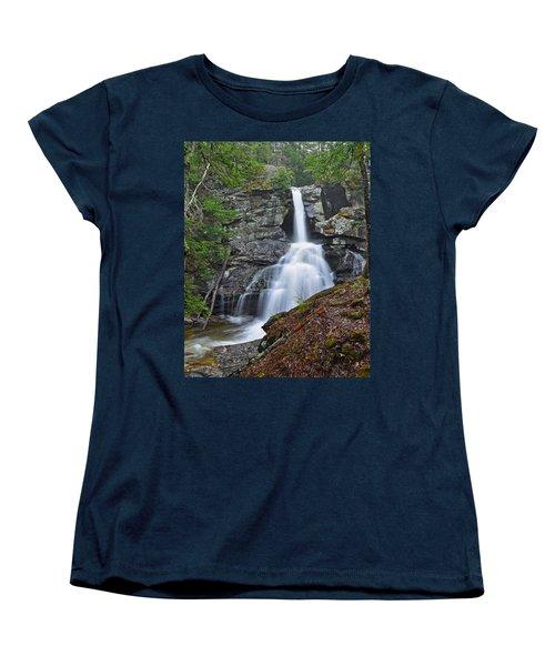 Kent Falls State Park Ct Waterfall Women's T-Shirt (Standard Cut) by Glenn Gordon