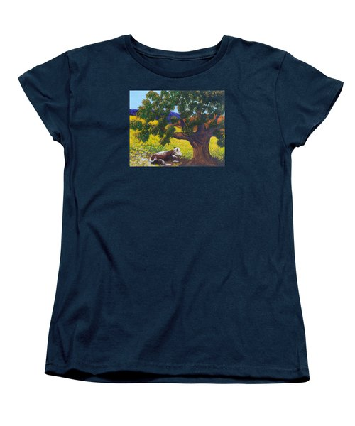 Women's T-Shirt (Standard Cut) featuring the painting Kern County Cow by Katherine Young-Beck