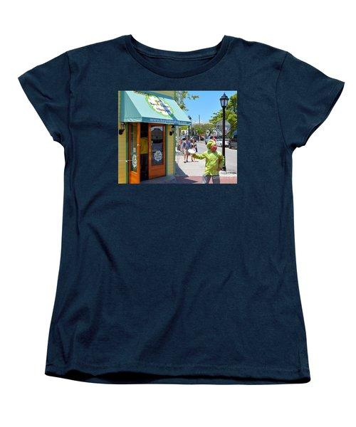 Key Lime Pie Man In Key West Women's T-Shirt (Standard Cut) by Janette Boyd