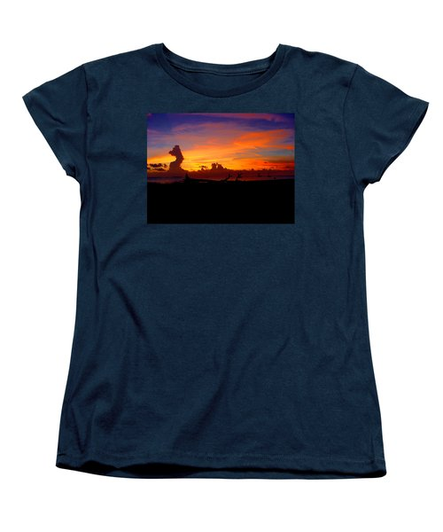 Women's T-Shirt (Standard Cut) featuring the photograph Key West Sun Set by Iconic Images Art Gallery David Pucciarelli