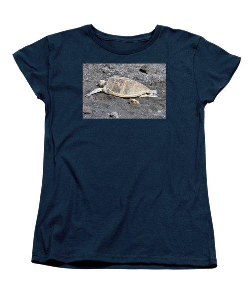 Kickin' Back Women's T-Shirt (Standard Cut) by David Lawson
