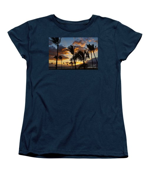 Kihei At Dusk Women's T-Shirt (Standard Cut) by Peggy Hughes