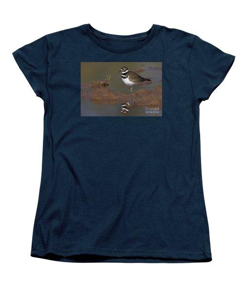 Women's T-Shirt (Standard Cut) featuring the photograph Killdeer Reflection by Bryan Keil