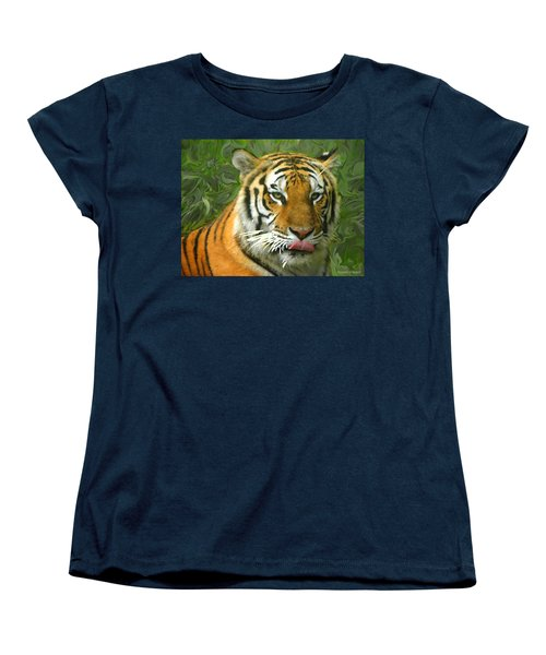 Women's T-Shirt (Standard Cut) featuring the photograph Kisa Painted by Sandi OReilly