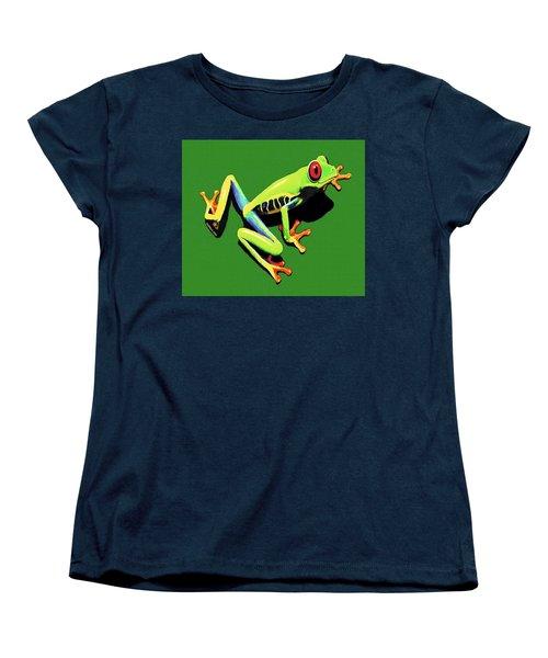 Women's T-Shirt (Standard Cut) featuring the painting Kiss Me by Sophia Schmierer