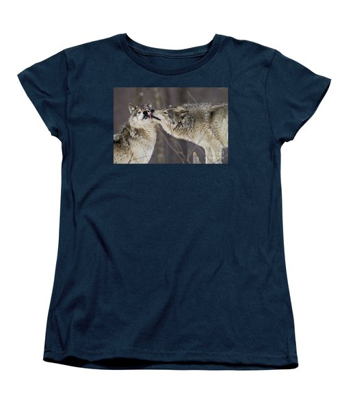 Kissy Face Women's T-Shirt (Standard Cut) by Wolves Only