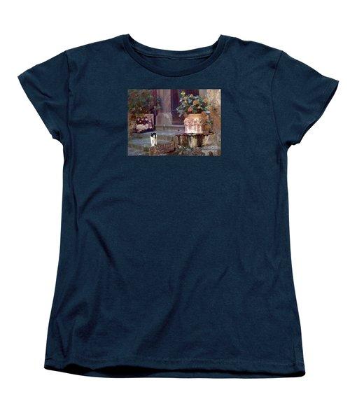 Kitten Italiano Women's T-Shirt (Standard Cut) by Barbie Corbett-Newmin