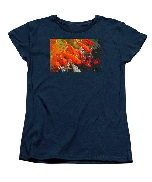 Koi Fish  Women's T-Shirt (Standard Cut) by Tom Janca