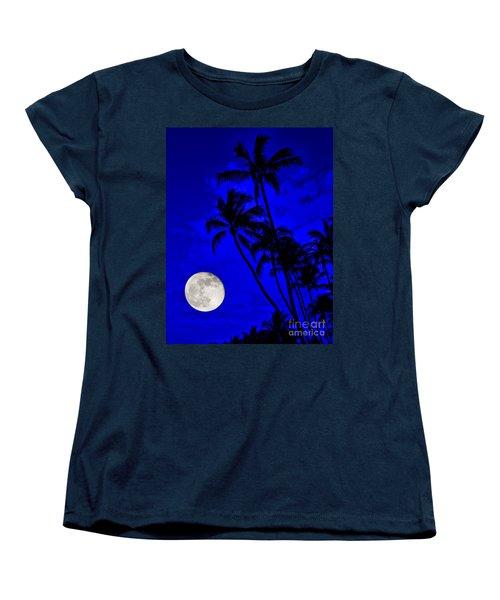 Kona Moon Rising Women's T-Shirt (Standard Cut) by David Lawson