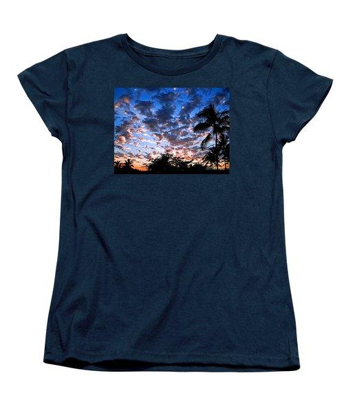 Women's T-Shirt (Standard Cut) featuring the photograph Kona Sunset by David Lawson