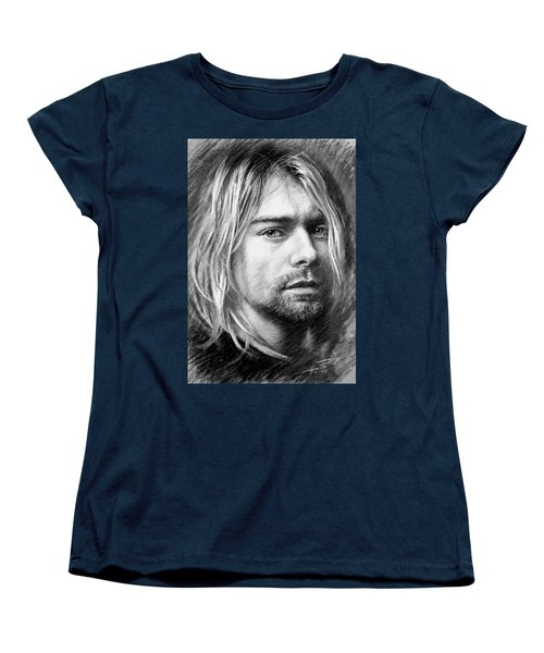 Kurt Cobain Women's T-Shirt (Standard Cut) by Viola El