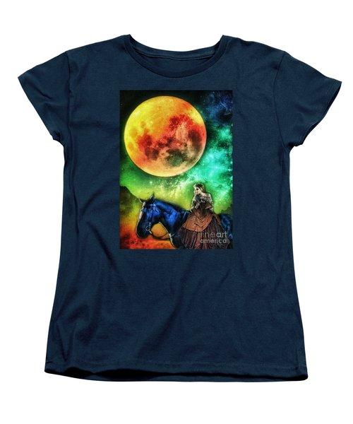 La Luna Women's T-Shirt (Standard Cut) by Mo T
