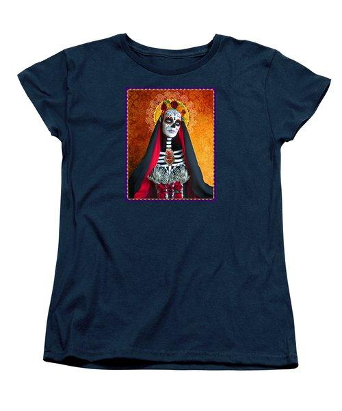 La Muerte Women's T-Shirt (Standard Cut) by Tammy Wetzel