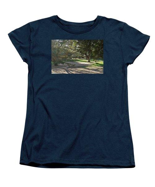 Labyrinth Retreat Women's T-Shirt (Standard Cut) by Michele Myers