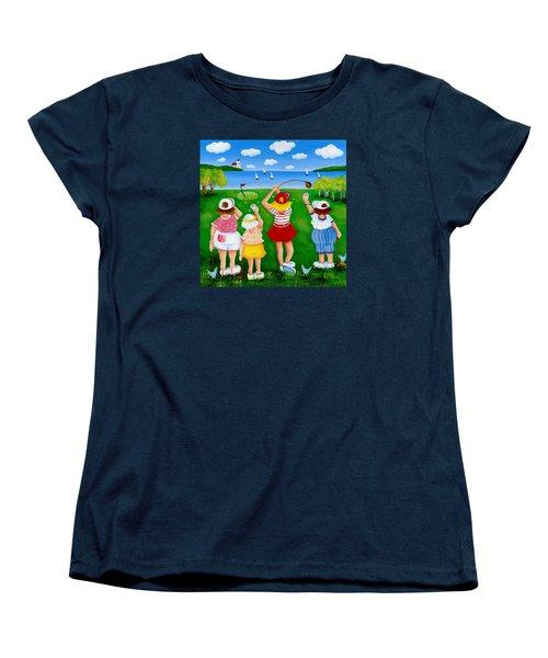 Ladies League Door County Women's T-Shirt (Standard Cut) by Pat Olson