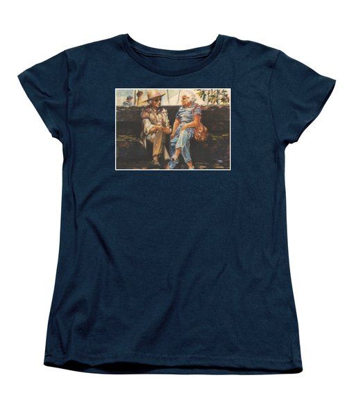 Women's T-Shirt (Standard Cut) featuring the painting Ladies Of Washington Square by Walter Casaravilla