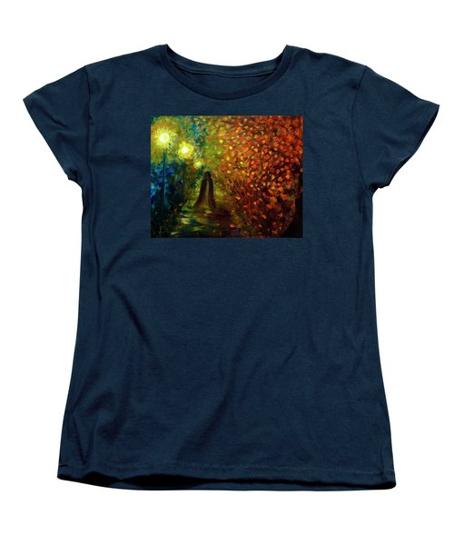 Women's T-Shirt (Standard Cut) featuring the painting Lady Autumn by Lilia D