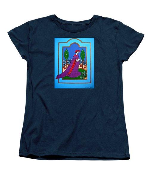 Lady In A Garden Women's T-Shirt (Standard Cut) by Stephanie Moore