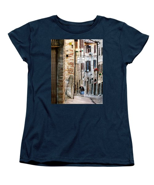 Lady In Urbino Women's T-Shirt (Standard Cut) by Jennie Breeze