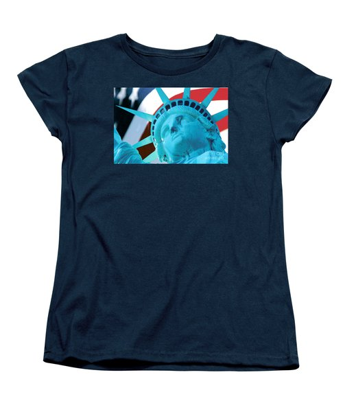 Lady Liberty  Women's T-Shirt (Standard Cut) by Jerry Fornarotto