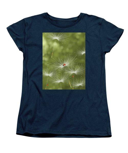 Ladybug Women's T-Shirt (Standard Cut) by Veronica Minozzi
