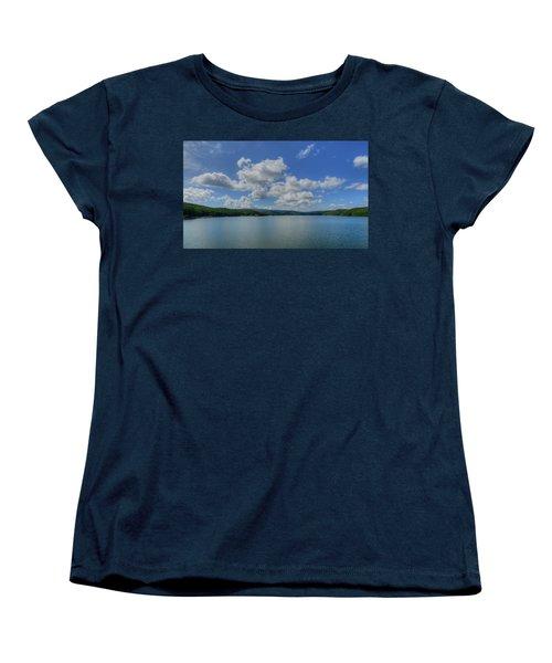 Lake Arrowhead Women's T-Shirt (Standard Cut) by Julia Wilcox