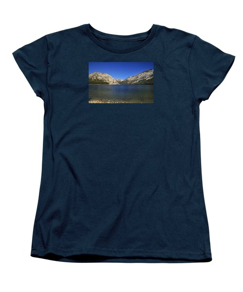 Lake Ellery Yosemite Women's T-Shirt (Standard Cut) by David Millenheft
