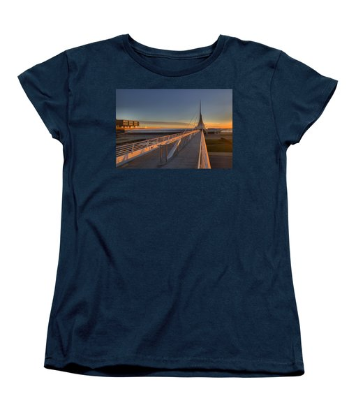 Lake Front View Women's T-Shirt (Standard Cut) by Daniel Sheldon