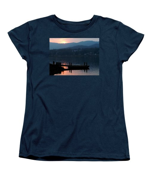 Women's T-Shirt (Standard Cut) featuring the photograph Lake J Sunset by Craig T Burgwardt