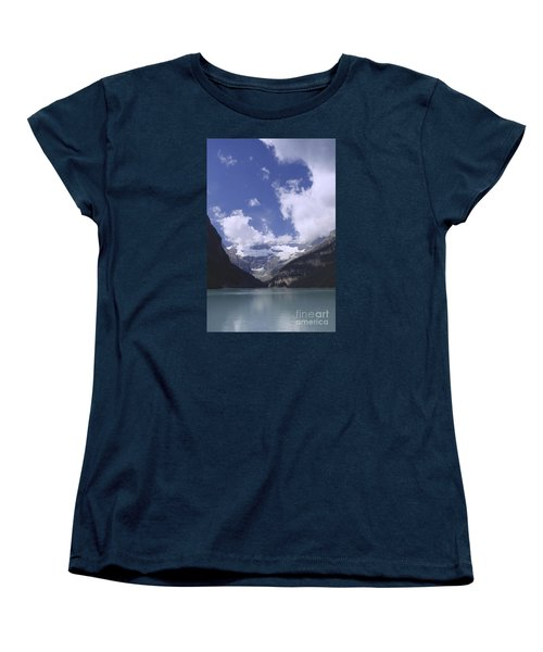 Women's T-Shirt (Standard Cut) featuring the photograph Lake Louise Canada by Rudi Prott