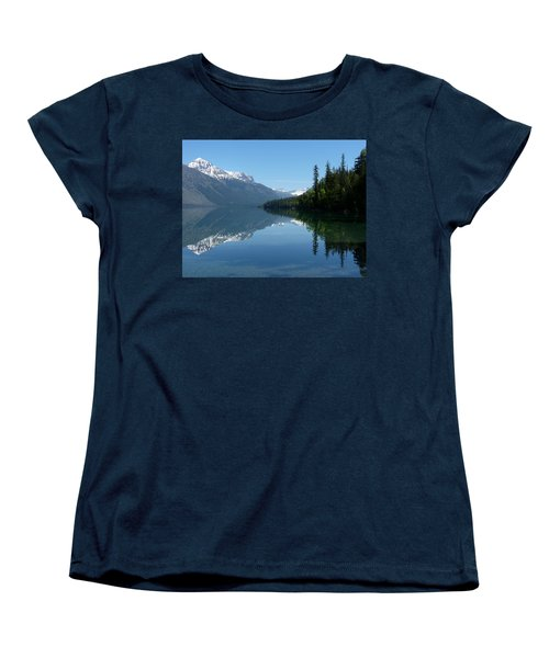 Lake Mcdonald - Glacier National Park Women's T-Shirt (Standard Cut) by Lucinda Walter