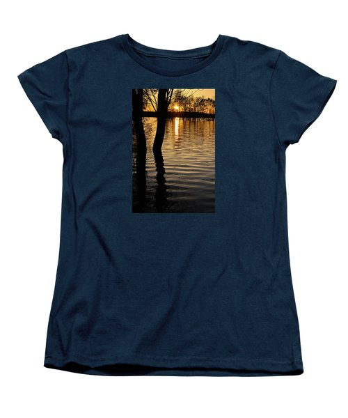 Women's T-Shirt (Standard Cut) featuring the photograph Lake Silhouettes by Julie Andel