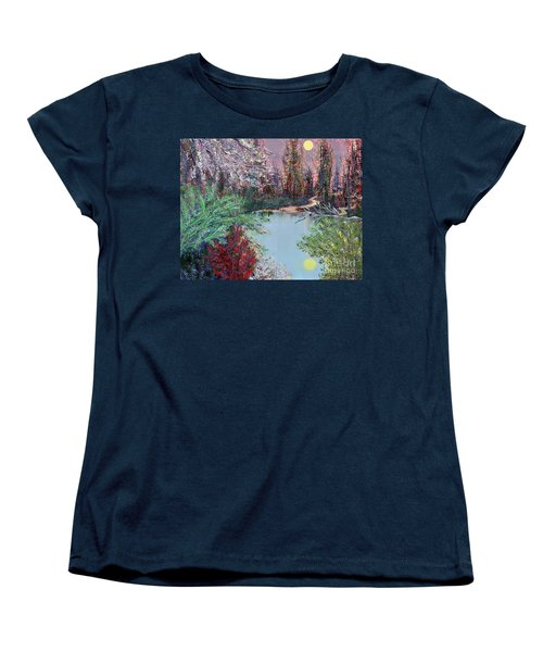 Lake Tranquility Women's T-Shirt (Standard Cut) by Alys Caviness-Gober