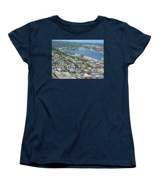 Lake Union Panorama Women's T-Shirt (Standard Cut) by David Trotter