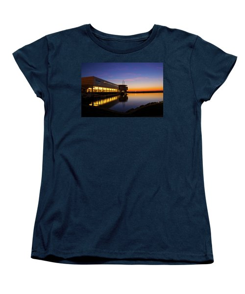 Lakefront Sunrise Women's T-Shirt (Standard Cut) by Jonah  Anderson