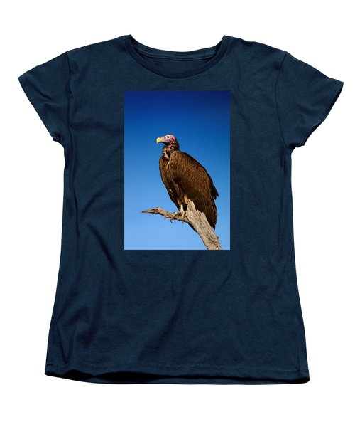 Lappetfaced Vulture Against Blue Sky Women's T-Shirt (Standard Cut) by Johan Swanepoel