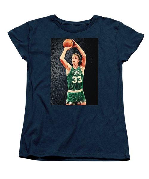 Larry Bird Women's T-Shirt (Standard Cut) by Taylan Apukovska