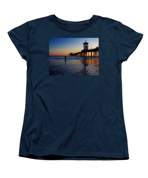 Last Wave Women's T-Shirt (Standard Cut) by Tammy Espino