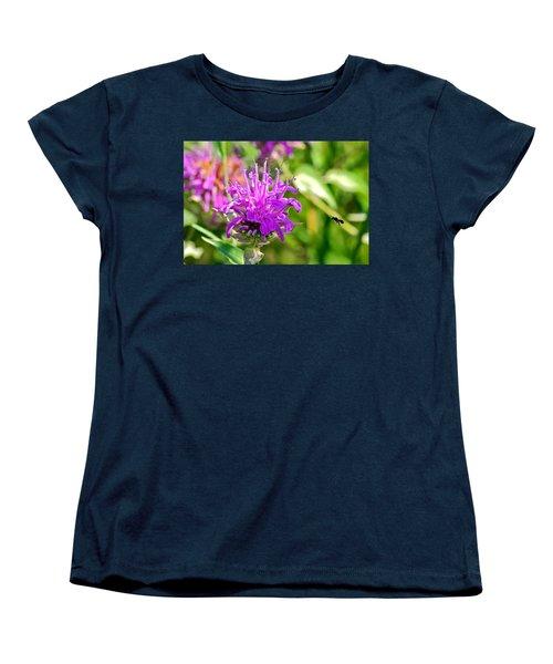 Lavender Pink Bee Balm Wild Bergamot Women's T-Shirt (Standard Cut) by Karon Melillo DeVega
