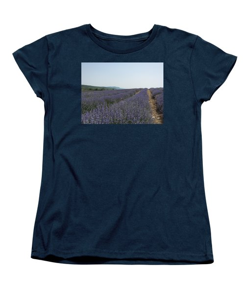 Women's T-Shirt (Standard Cut) featuring the photograph Lavender Sky by Pema Hou