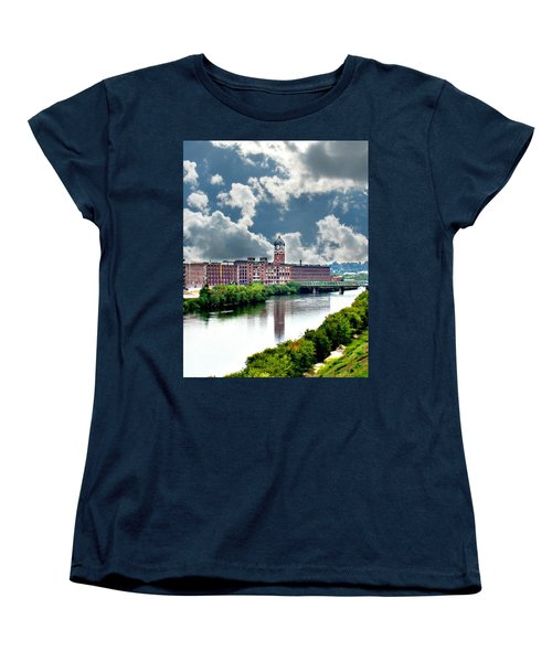 Lawrence Ma Historic Clock Tower Women's T-Shirt (Standard Cut) by Barbara S Nickerson