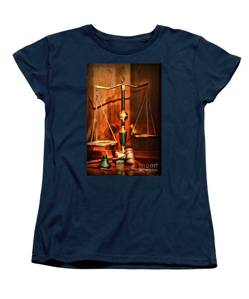 Lawyer - Scales Of Justice Women's T-Shirt (Standard Cut) by Paul Ward