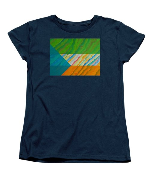 Women's T-Shirt (Standard Cut) featuring the mixed media Layover by Michele Myers