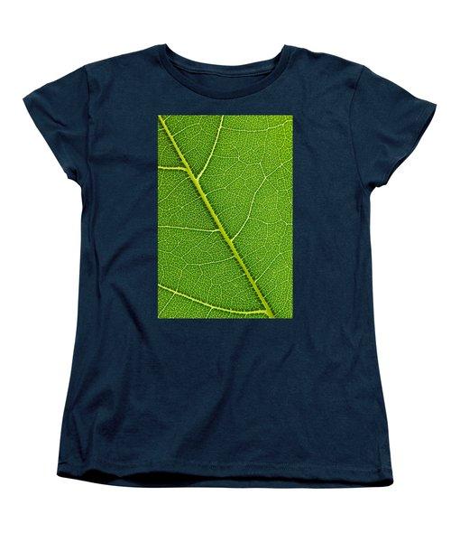 Women's T-Shirt (Standard Cut) featuring the photograph Leaf Detail by Carsten Reisinger